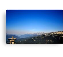 Canada Olympic mountains Canvas Print