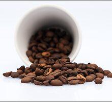 Spilled Coffee Beans by Karen Havenaar
