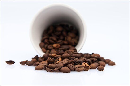 Spilled Coffee Beans by Karen Havenaar