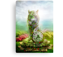 cat statue .... guard of the time Canvas Print