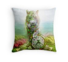 cat statue .... guard of the time Throw Pillow