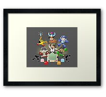 Retro World Framed Print
