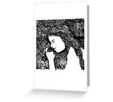 lady with bird 2 Greeting Card