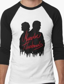 Murder Husbands [Black/Red] Men's Baseball ¾ T-Shirt