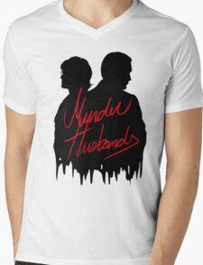 Murder Husbands [Black/Red] Mens V-Neck T-Shirt