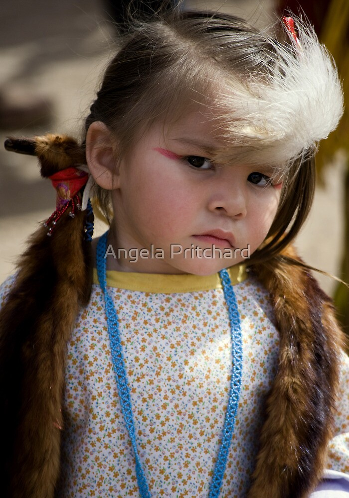 Little Indian Girl by Angela Pritchard