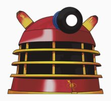 Red and Gold Dalek by Chris Singley