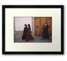 Nuns on the march Framed Print