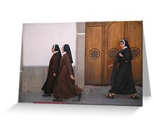 Nuns on the march Greeting Card