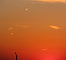 Lady Liberty Aglow by ohwhatachristy