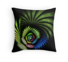 Blades Of Color Throw Pillow