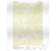 USGS Topo Map Oregon Beaver 278973 1985 24000 Poster