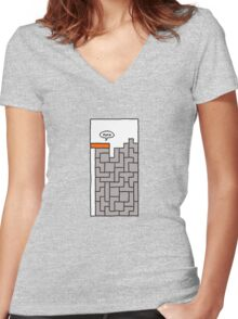 tetris Women's Fitted V-Neck T-Shirt