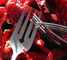 Dried Peppers and Forks by Brian Dugay