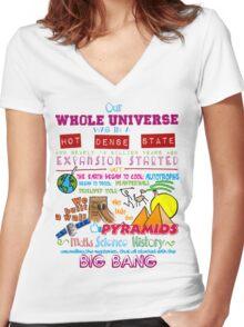 Big Bang Women's Fitted V-Neck T-Shirt