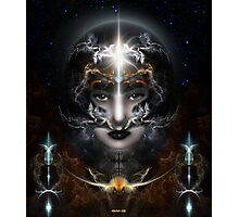 Goddess Of The Black Moon Photographic Print