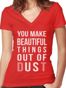Beautiful Things Women's Fitted V-Neck T-Shirt