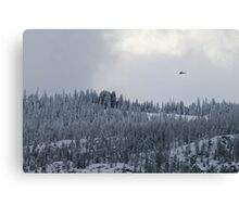 Snow and Helicopters Canvas Print