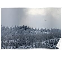 Snow and Helicopters Poster
