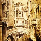 Venice Canal in Sepia 1968 by pennyswork