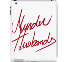 Murder Husbands [Text] iPad Case/Skin