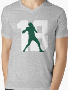 Michigan State No. 18 Mens V-Neck T-Shirt