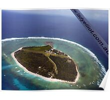 Above Lady Elliot Island Poster