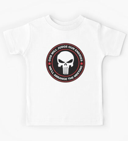 god will judge our enemies we'll arrange the meeting - red Kids Tee
