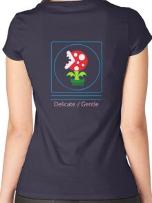 mario: piranha plant is delicate and gentle Women's Fitted Scoop T-Shirt