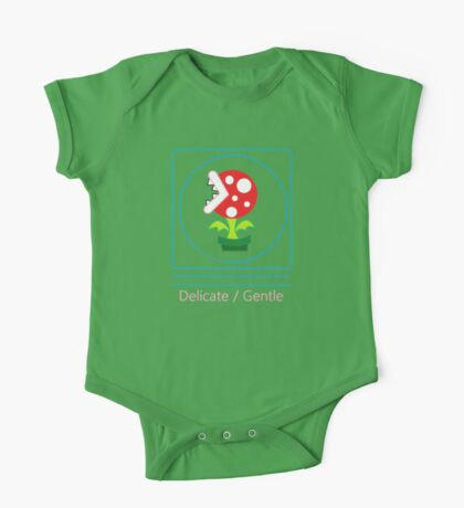 mario: piranha plant is delicate and gentle One Piece - Short Sleeve