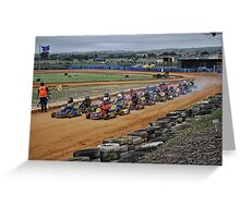 The Adrenalin Is Pumping! Greeting Card