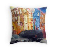 Street Art City Mural Throw Pillow