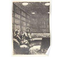 Édouard Riou 20000 Nautilus Library Nemo Aronnax Poster