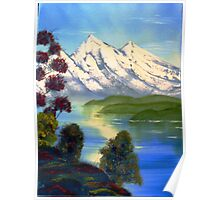 Snowy Mountains in Summer Poster