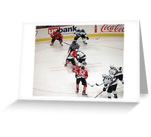 Faceoff at the Top Circle Greeting Card