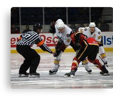 Opening Faceoff Canvas Print