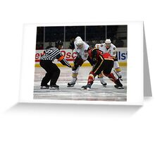 Opening Faceoff Greeting Card