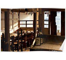Empty Japanese Restaurant Poster