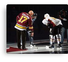 Opening Puck Drop Canvas Print