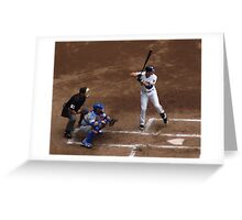 Cheating at the Plate Greeting Card