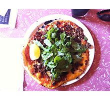 Pizza Agnello Photographic Print