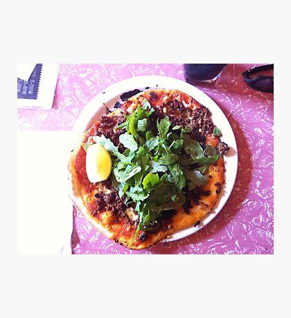 Pizza Agnello Photographic Print