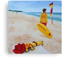 Beach Patrol at Soldiers Canvas Print