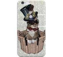 Vintage Steampunk Cat Iphone Case iPhone Case/Skin