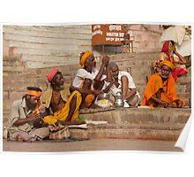Varanasi Steps Poster