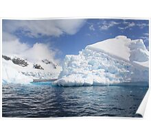 Ice berg in the Antarctic Poster