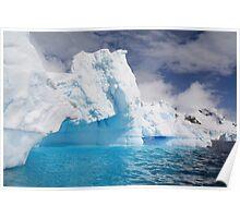 Antarctic icebergs. Poster