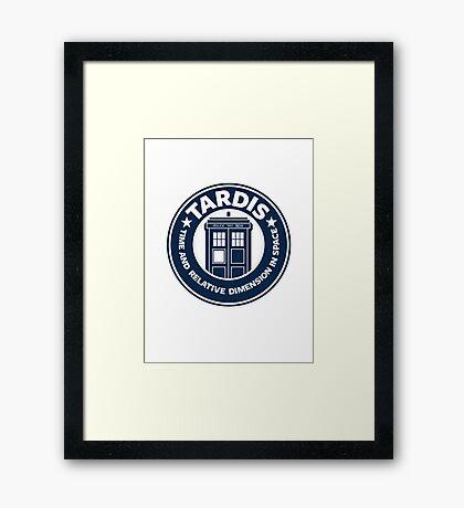Tardis Coffee Framed Print