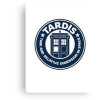 Tardis Coffee Canvas Print