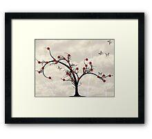 * butterfly tree * Framed Print